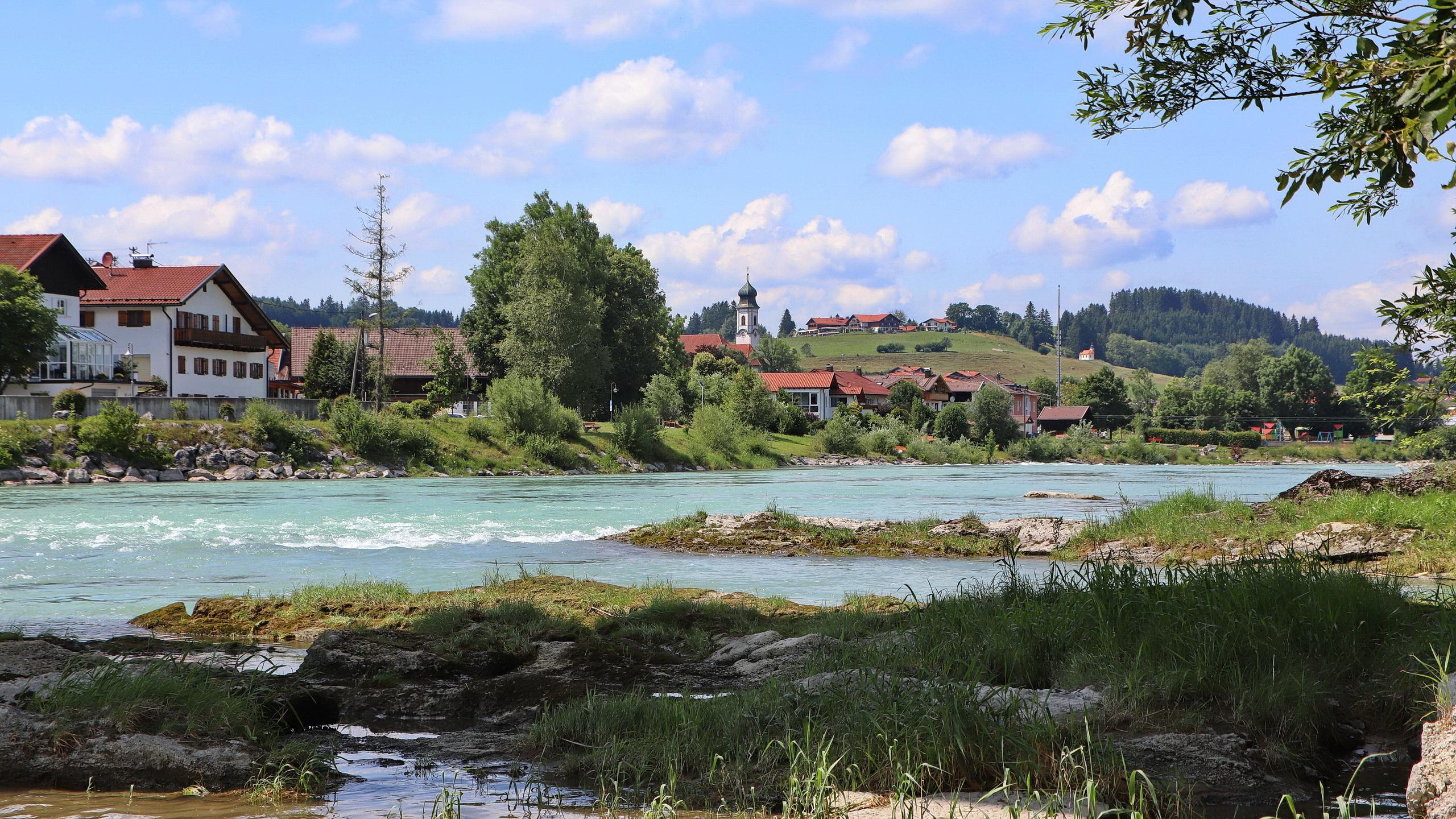 Blick auf Lechbruck am See